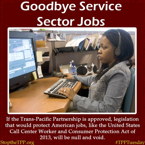 The #TPP will wreak havoc on US jobs, wages and workers' rights: Read how: go.cwa.net/1bE8lkz #TPPTuesday http://twitter.com/CWAUnion/status/382604283343953920/photo/1