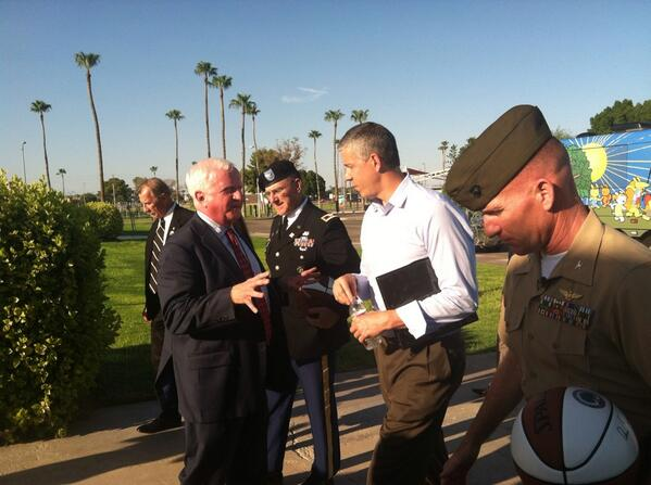 Arrived at Yuma Military Base. Very excited for our town hall.  Mil. kids deserve a world class education #edtour13 http://twitter.com/ewwaldo/status/378309343336091649/photo/1