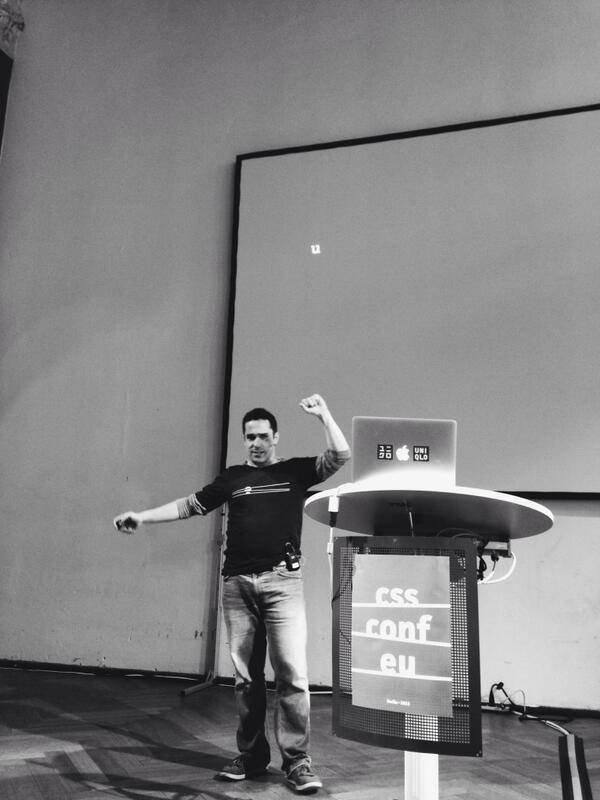 Love the @CSSconfeu opening by @jedschmidt #cssconfeu — http://t.co/QOG3zH5EWH