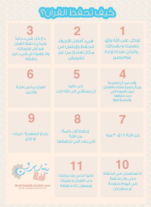كيف تحفظ القرآن الكريم .. بطاقة