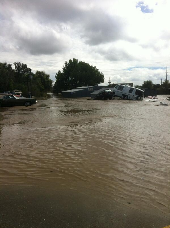 Scenes from #longmontflood, #coflood: This is usually a street: http://twitter.com/katherineharmon/status/378593577837666304/photo/1