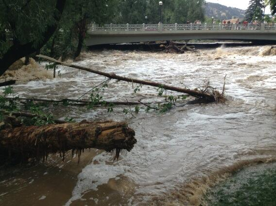 Boulder creek after the flood #boulderflood http://twitter.com/symesgc/status/378630874356387840/photo/1