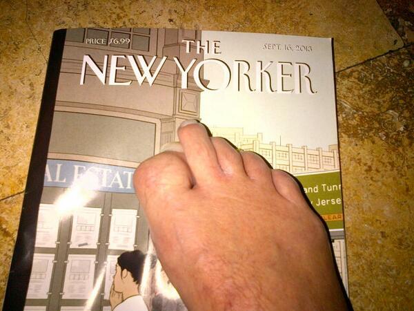 Geraldo Rivera foot