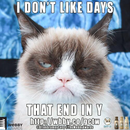 Grumpy Cat On Twitter Tgif Not Enter To Win A Year Of Free