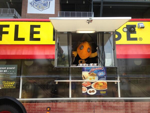 Waffle House News On Twitter The At Wafflehouse Food Truck Rolls