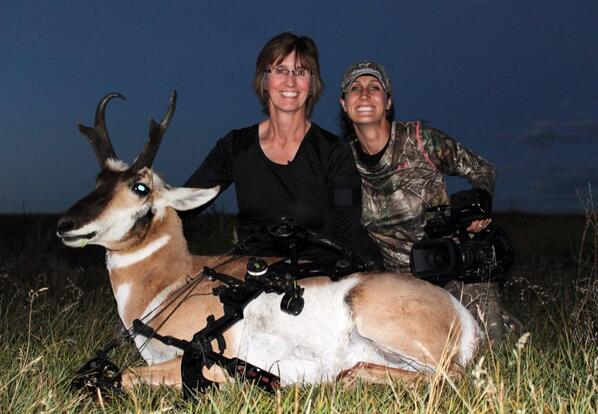 Congrats to my mom on her first antelope!! She made a great shot and all her practice paid off! Amazing footage too! http://t.co/rArXuSiMkV