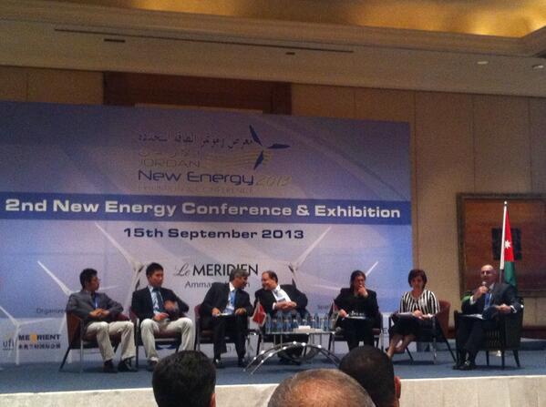 First panel at the 2nd new energy conference Renewable Energy: investing in Jordan, Enabling Environment #Jordan http://t.co/fTSO4cKbSJ