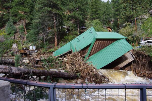 VIEWER PHOTO: Flood damage in St Vrain Canyon. @KDVR #coflood #CoWX http://twitter.com/JeremyHubbard/status/379278619526180864/photo/1