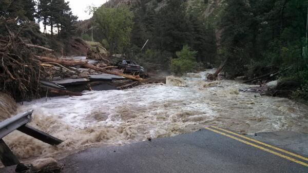 Image of Lefhand Canyon sent to @9news courtesy Laura Labovitz. #coflood #lefthandcanyon #boulderflood http://twitter.com/bwillie/status/379269590078869504/photo/1