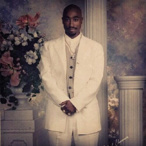 Tupac In A Suit
