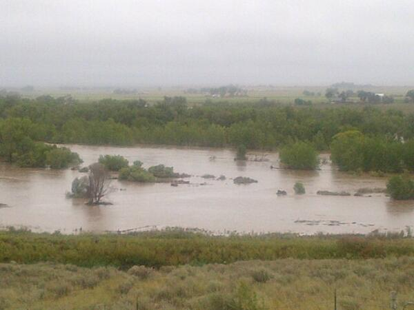 South Platte from Frank DiRico's house near Hwy 144 http://twitter.com/repcorygardner/status/379297608876822528/photo/1