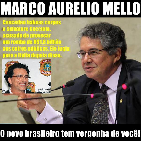 Resultado de imagem para Cacciola(Marco Aurélio Mello