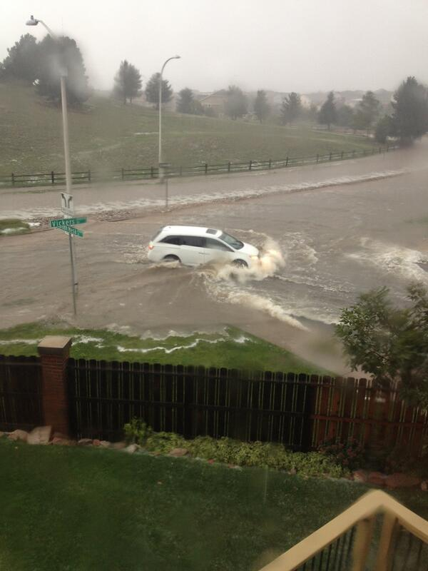 Near Rangeview and Dublin From my sisters back deck In Colorado Springs right now #coflood http://twitter.com/bwillie/status/379328882014310400/photo/1