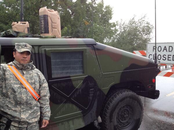 Sgt Steven Martinez Colorado Army National Guard at overland trail at #poudre #cowx #coflood http://twitter.com/Krisbb/status/379330363379568640/photo/1