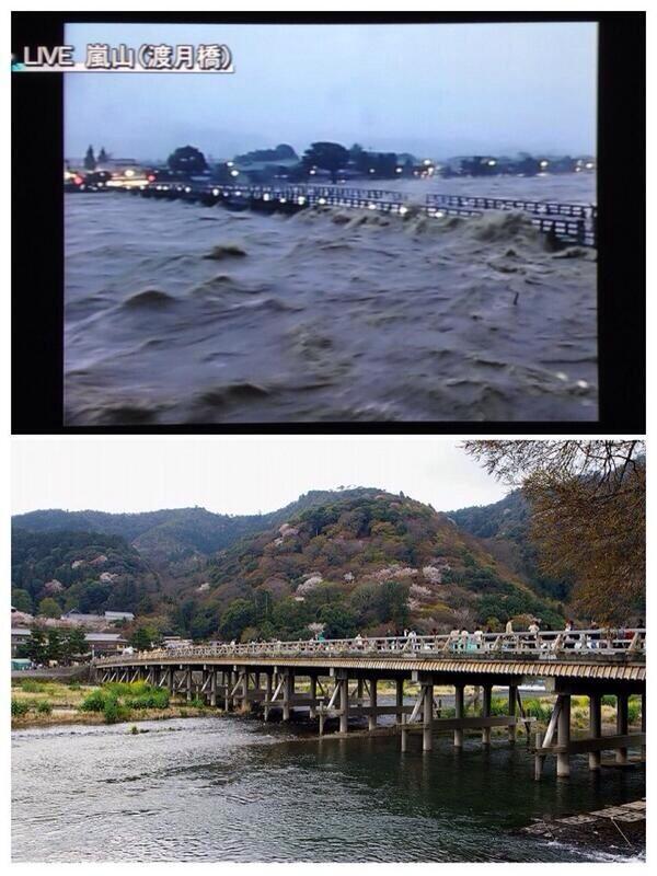 この写真すごいな…わかりやすいわ。京都嵐山渡月橋やて