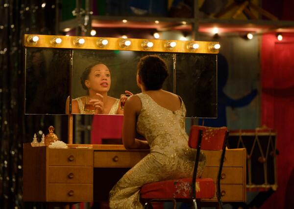 .@CatSimmons  *is* Billie Holiday in #LightningChild (c) Simon Kane. http://twitter.com/The_Globe/status/379596794159570944/photo/1