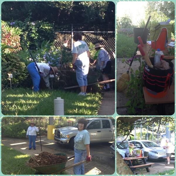 #picstitch. #MasterGardeners are working hard today at #UFIFASLeonCountyExtension office. Looks great guys!