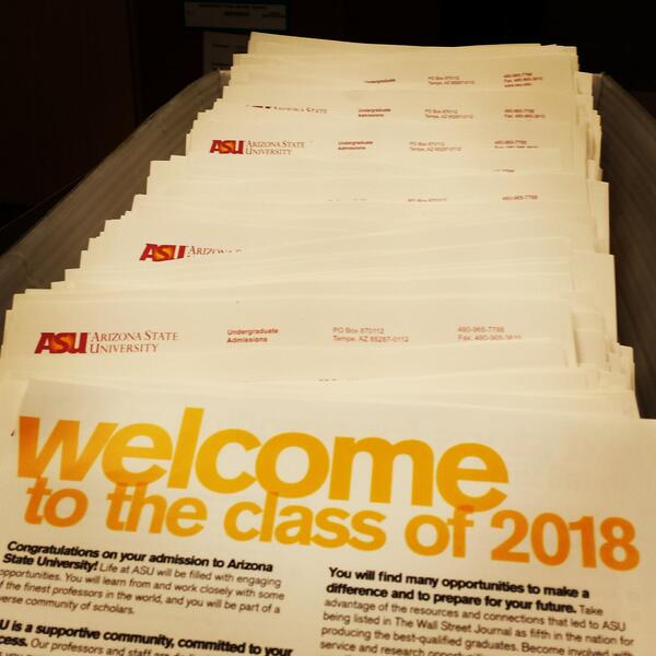 Congratulations You Have Been Admitted To ASU With