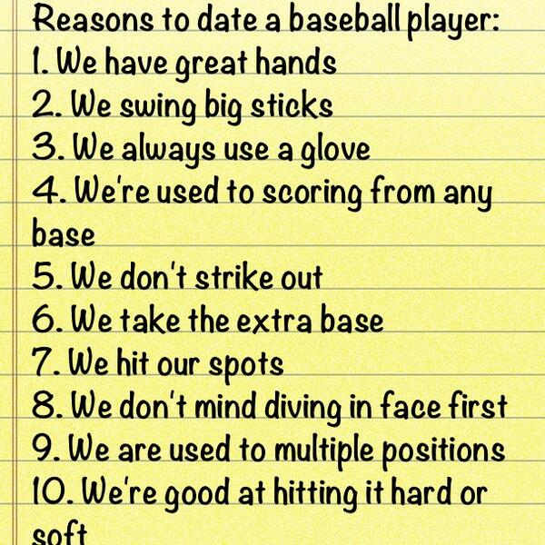 Reasons to date a baseball player in Brisbane