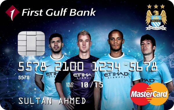 Manchester City launch the UAEs first credit card featuring an English club with First Gulf Bank