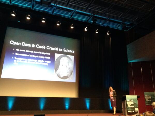 #Opendata and code are crucial to science #okcon http://twitter.com/celyagd/status/379952385222651905/photo/1