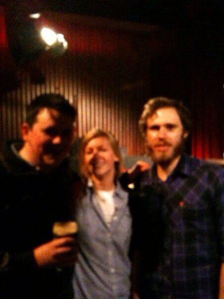 @danielgeraghty  @jamesvmcmorrow first gig in Sugar Club. #fromthewoods
