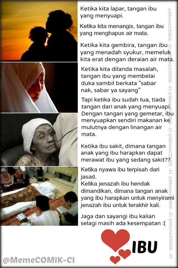 Bu Aku menangis saat baca ini :')