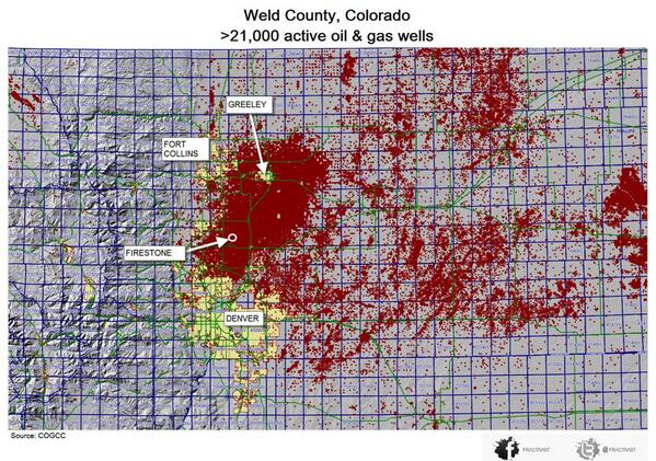 Frlctivist On Twitter Weld County Oil Gas Map 21 000 Active