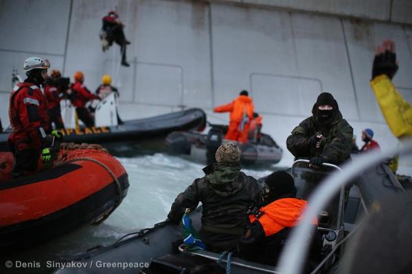 BREAKING: This is what oil company 'protection' looks like in the Russian Arctic. #SavetheArctic http://twitter.com/gp_sunrise/status/380217211475865600/photo/1