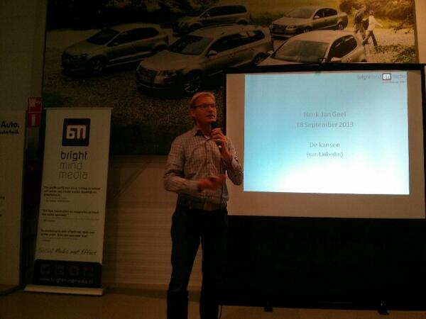 Henk-Jan Geel gaat nu van start #smc0412 #linkedin #kracht en #kansen http://twitter.com/joostvanbeek/status/380395080411918336/photo/1