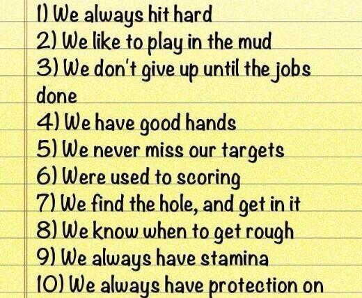 Ten reasons to date a football player
