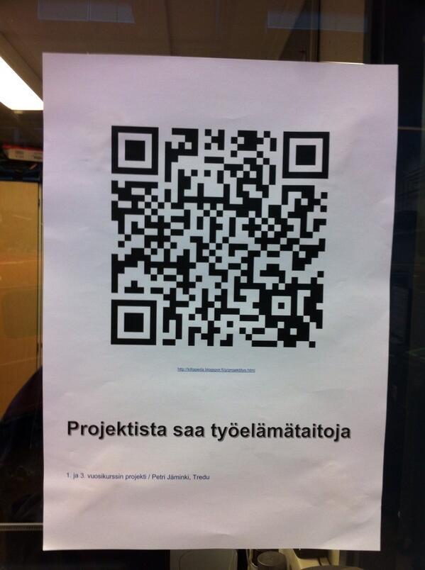 #kiltatapahtumat Projektista saa työelämätaitoja - Asentajakilta - QR-koodiohje http://twitter.com/PauliinaMakela/status/380604814104616960/photo/1