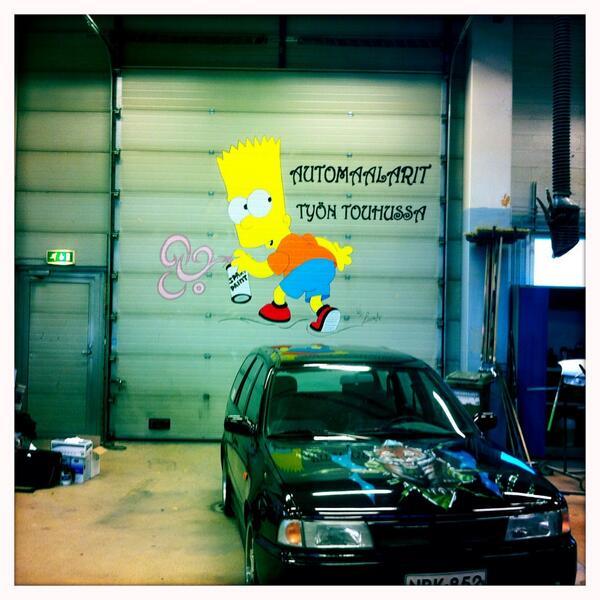 #kiltatapahtumat Automaalarit työn touhussa http://twitter.com/PauliinaMakela/status/380637304626221056/photo/1