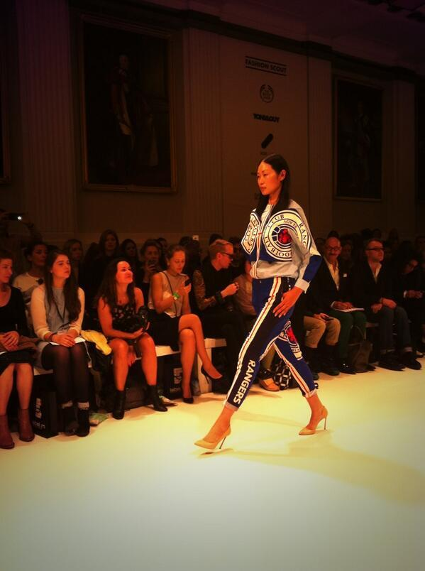 LOLZ: Ukrainian fashion designer creates Rangers Football Club outfit, modelled at fashion show
