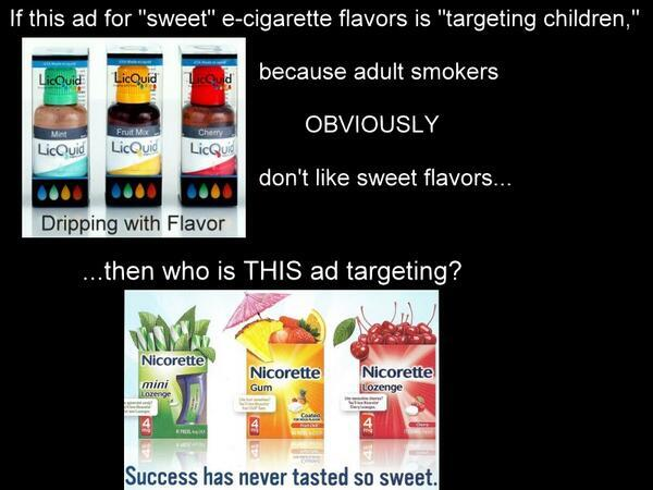 """If ads for sweet e-cigarette flavors """"target kids"""" then who is THIS ad targeting?? #ecigarettes are saving lives! http://t.co/Y7zQxn9m8G"""