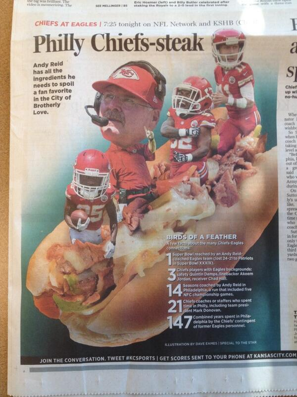 'Philly Chiefs-steak' is the best worst headline of the year