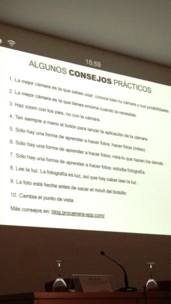 Diez consejos prácticos para hacer fotografía by @pacolivares #apdacongreso http://twitter.com/victoriacabrera/status/380708341049073664/photo/1