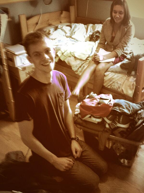 #positivethurs-->packing @seabass611 up & shipping him off to the UK for 3 weeks of shenanigans with @Macaulayjross http://twitter.com/semajosa/status/380717603452248064/photo/1