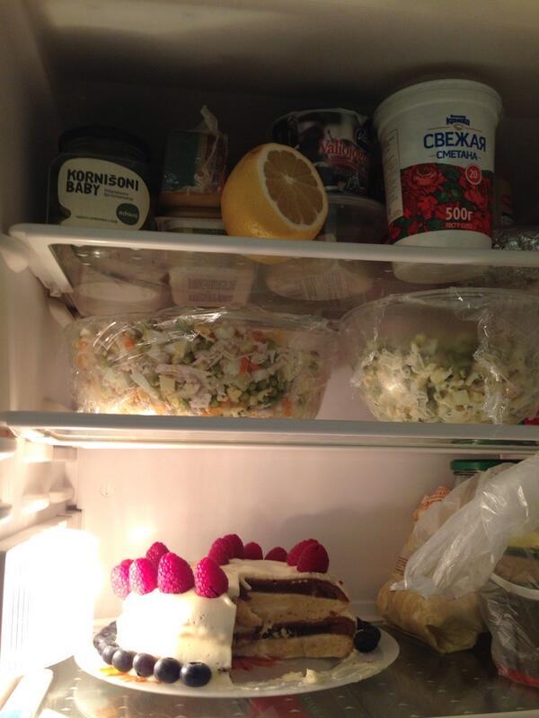 как с картинкой торт ставить в холодильник зверек