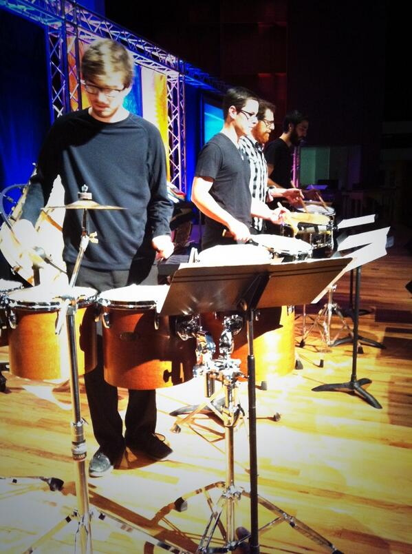 Percussion group ensemble 64.8 welcomes people to this year's #convocation. #nanooknation http://twitter.com/uafairbanks/status/380798030733012993/photo/1