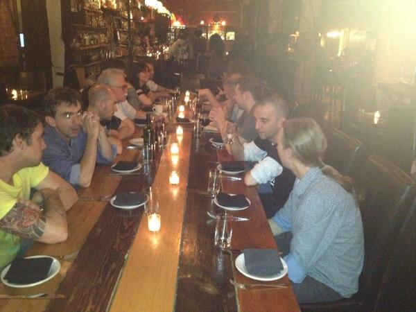 NYC Progressive F# Tutorials 2013 dinner