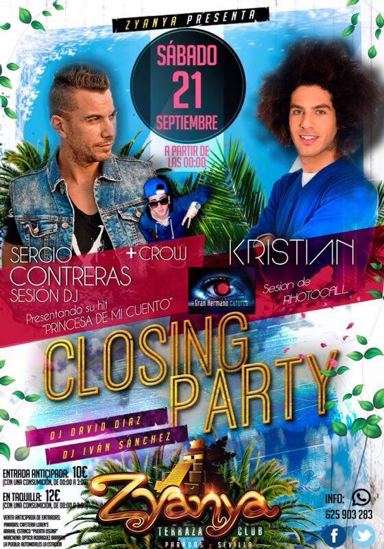 Terraza Zyanya On Twitter Este Sábado Closing Party Con