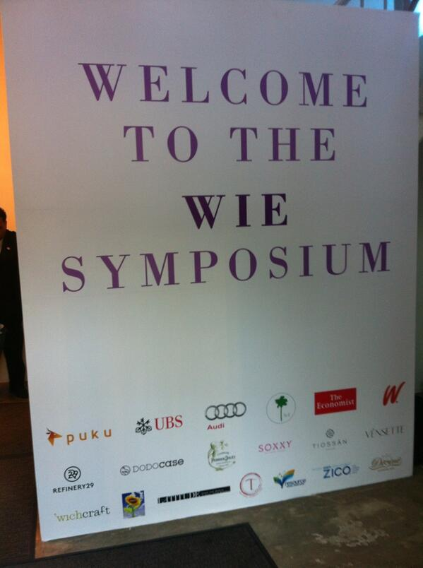On site for the #wie2013nyc - Day 1 is set to be amazing. Katie Couric & Brooke Shields are headlining today!! http://twitter.com/JenelleHamilton/status/381041795859103745/photo/1