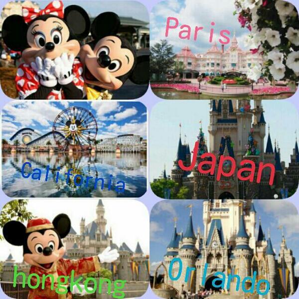 "3426185893d72 あと2つ行けばフルコンプ。"" celeb lovegirl  世界のDisney♡ ~Where dreams come true~ Disneyってほんと素敵だよね♡  世界のディズニー回りたいな!"