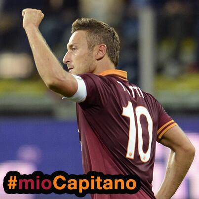 #MioCapitano: Roma captain Francesco Totti signs 2 year contract extension, taking him through to 39 and retirement