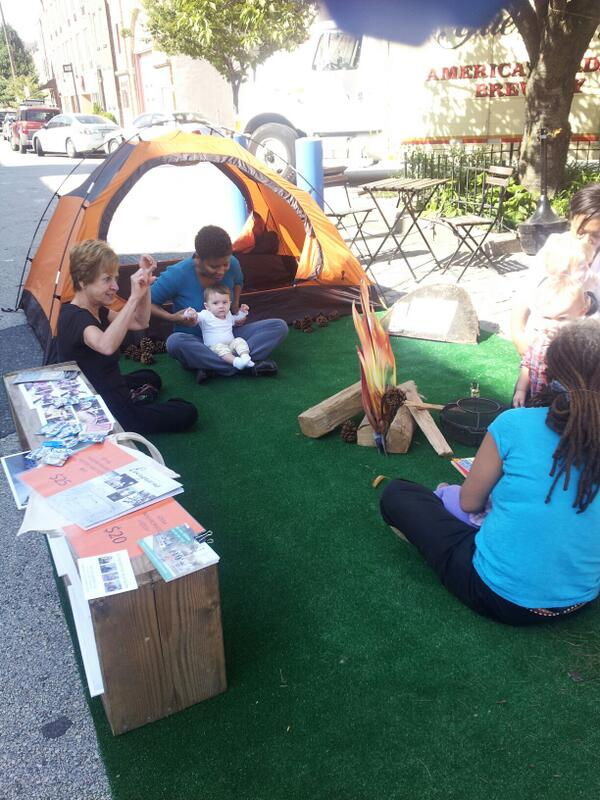 Fun! RT @phillysosna: @parkingdayphila Singing around the campfire! @GetFireside @NextCityOrg http://twitter.com/PhillySOSNA/status/381116194037587968/photo/1 #ParkingDay