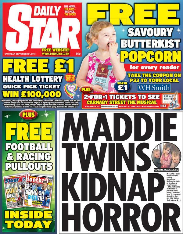 'Anti-McCann' websites plotted to kidnap one of Madeleine's siblings  - Daily Mail INCLUDES TWEETS FROM JERRY LAWTON RE MICHAEL WRIGHT TESTIMONY - Page 5 BUog5OhCAAAy88d