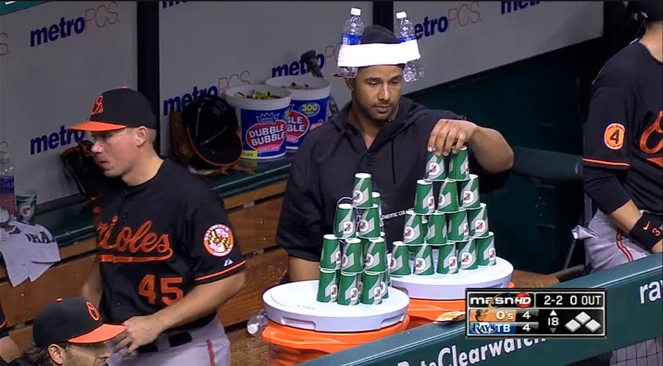 Orioles build a cupcastle during never-ending game