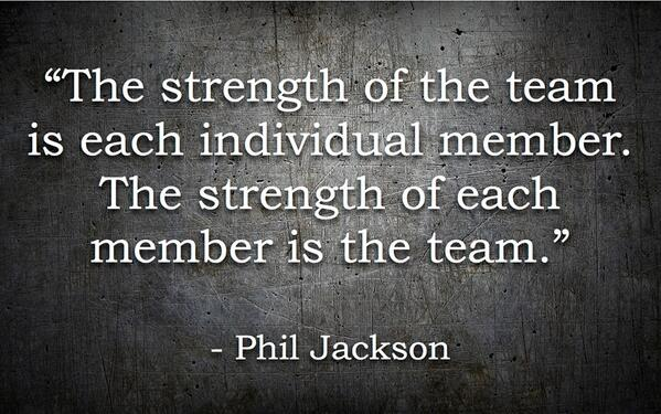 Image result for phil jackson the strength of the team