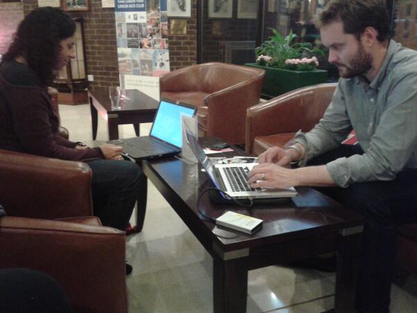 #FASHIONCLIMATE still working  back at the hotel.  #ldf13 http://twitter.com/msaunby/status/381475723266904064/photo/1